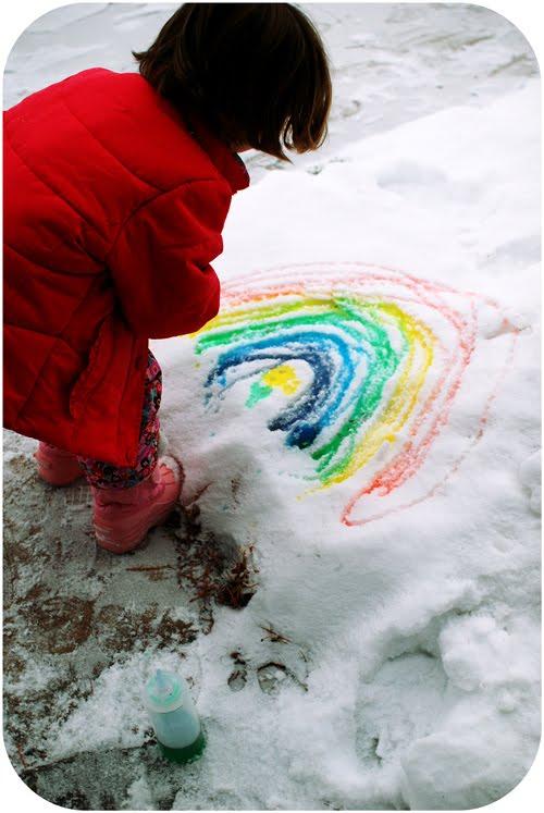 Dessins sur la neige