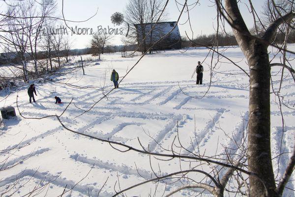 Labyrinthe de neige