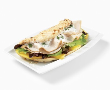 Turkey and mango pita