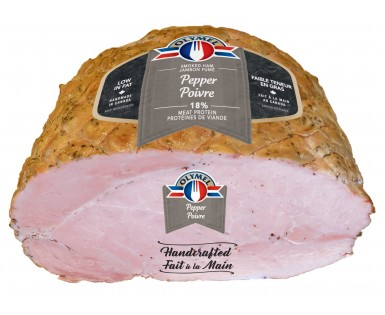 Pepper smoked Handcrafted Open Net ham