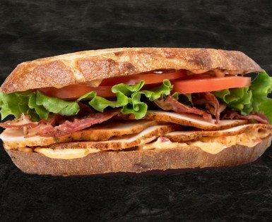 Sandwich BLT, dinde chipotle