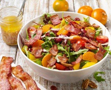 Salade californienne au bacon