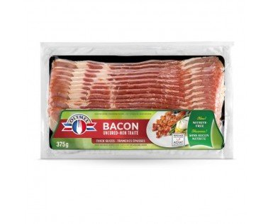 Nitrite-free uncured bacon