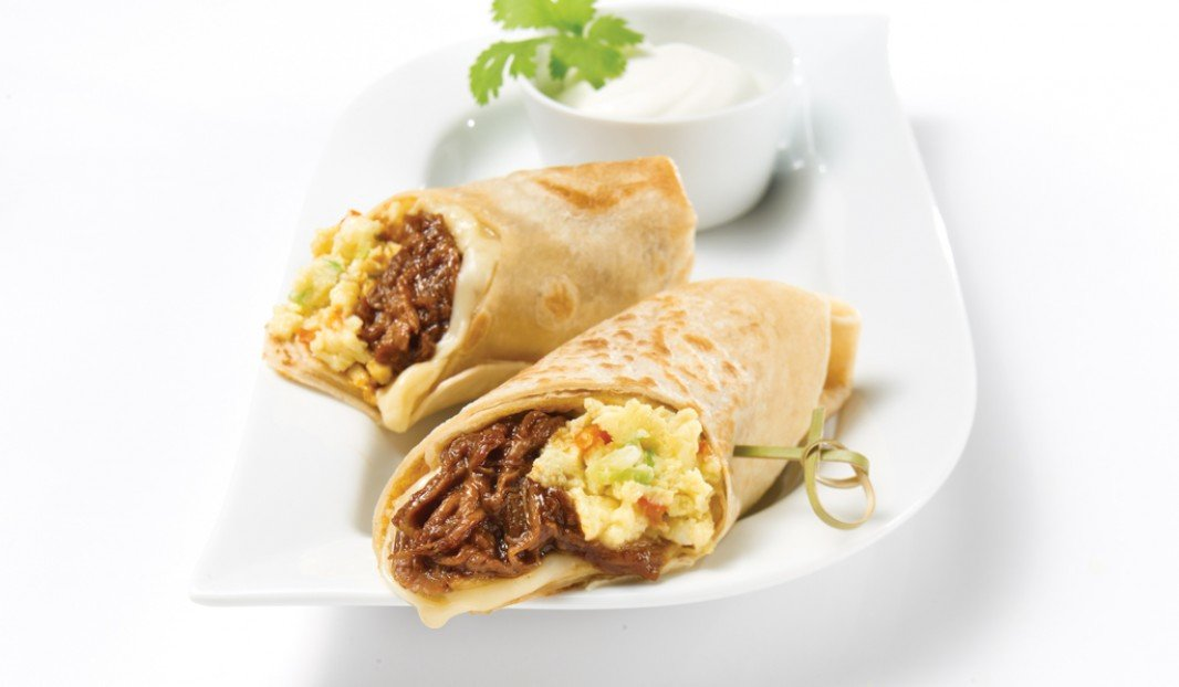 Pulled Pork Breakfast Burritos