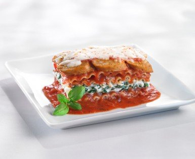 Lasagna with Italian Sausages, ricotta and spinach