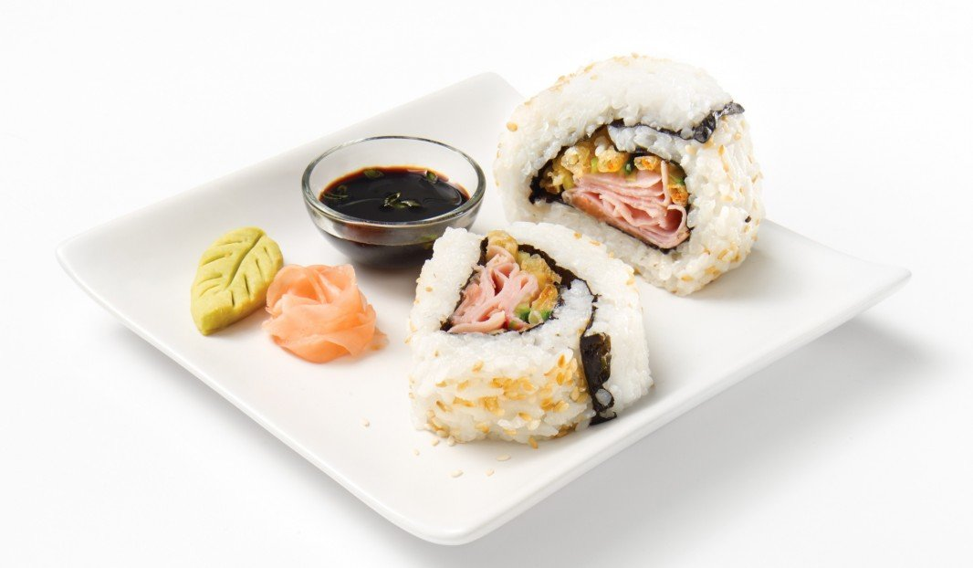 Black Forest Smoked Ham and Vegetable Tempura California Rolls
