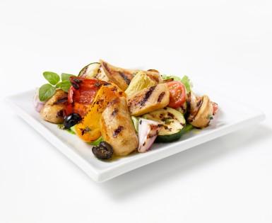 Salade de saucisses grillées Bacon & Cheddar et artichauts