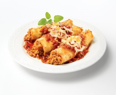 Mild Italian sausage cannelloni au gratin