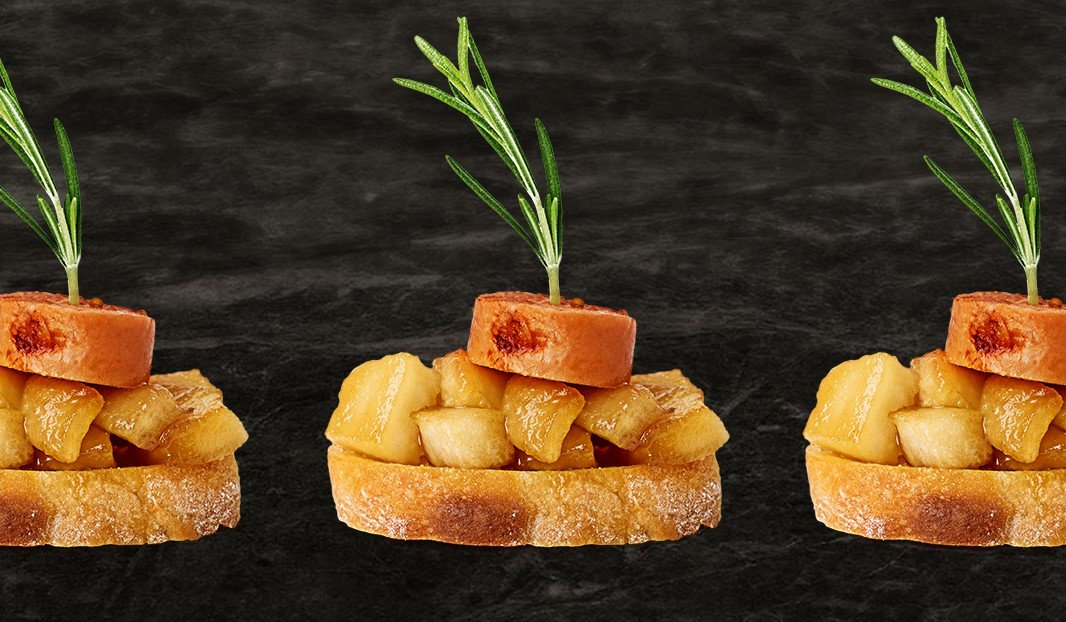 Apple Sausage Canapés