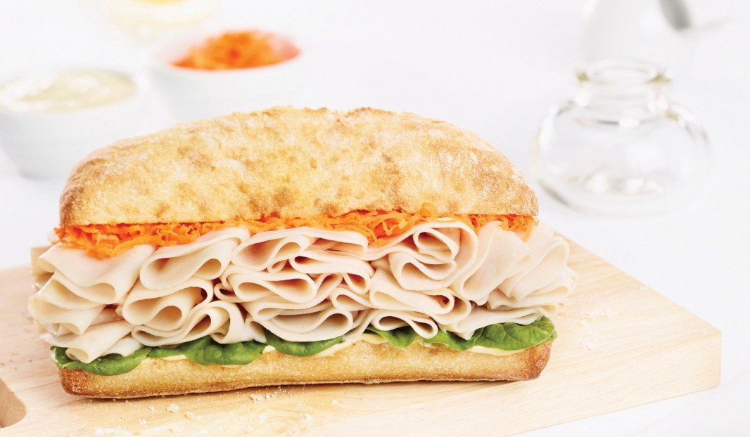 Banh Mi Baguette with Cooked Turkey Breast