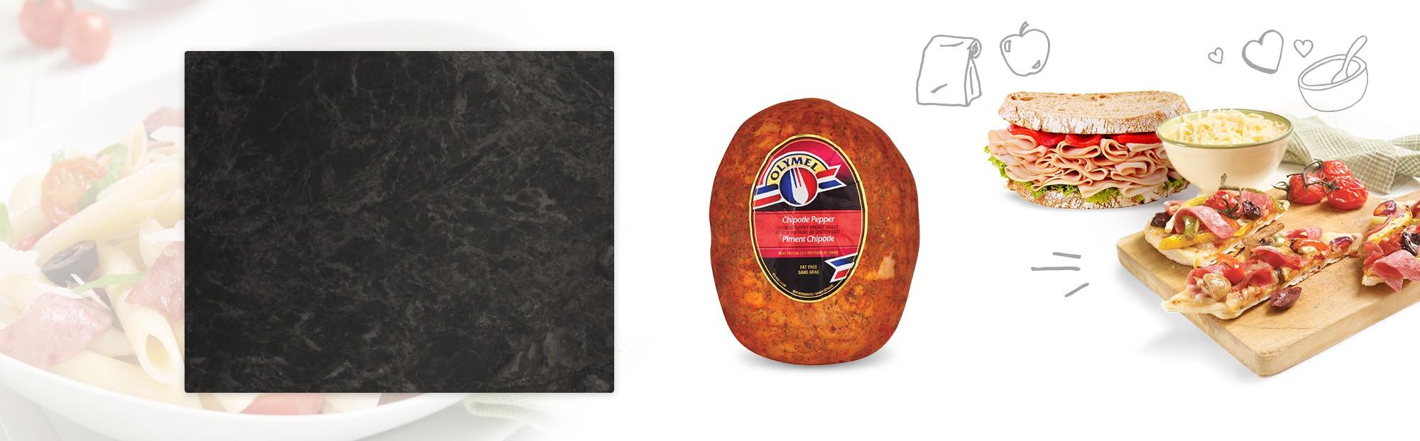 Rôti de poitrine de dindon cuit piment chipotle