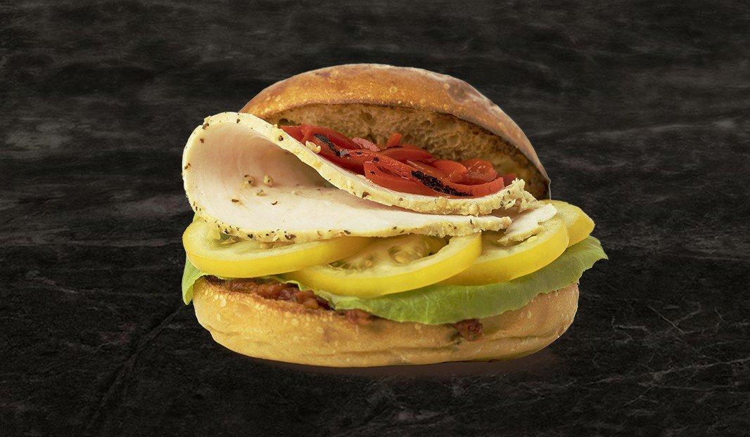 Triple tomato turkey sandwich