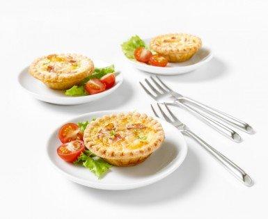 Mini quiches au bacon et fromage