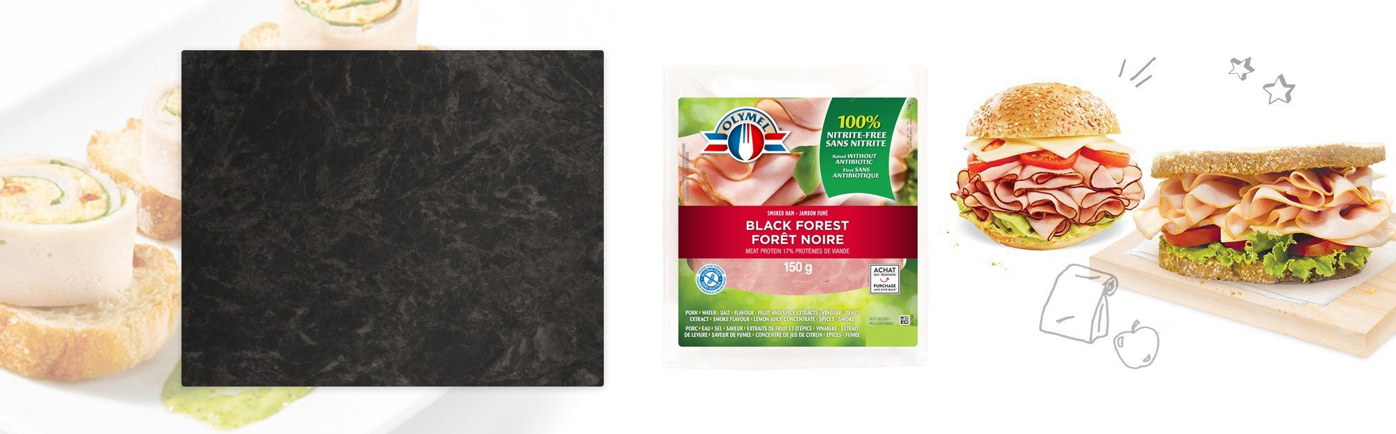 Sliced Black Forest Smoked Ham, nitrite-free