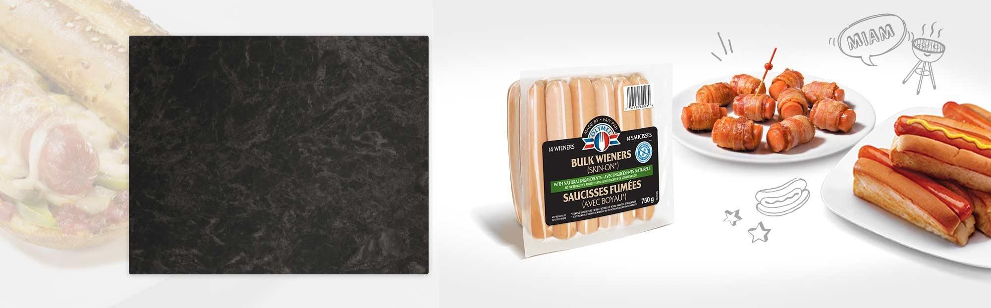 Bulk wieners with natural ingredients (Skin on)