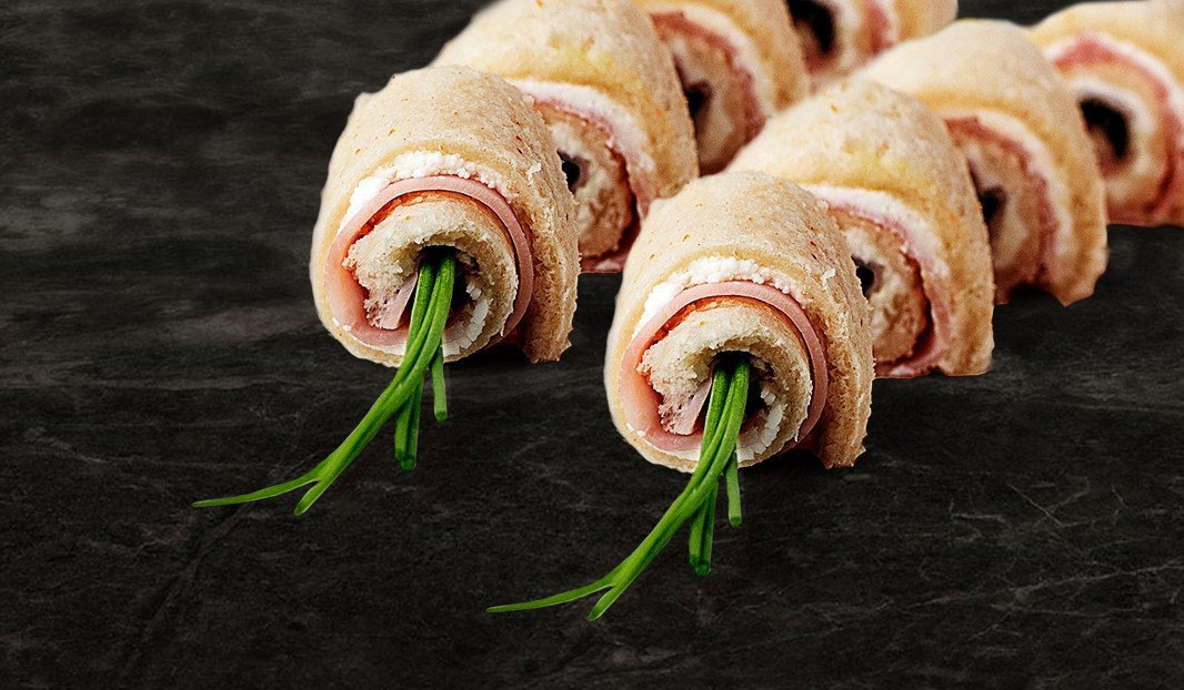 Ham and Goat Cheese Roll-ups