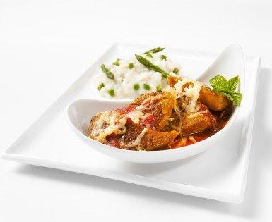 Gratin de saucisses Italiennes douces et sauce Marinara