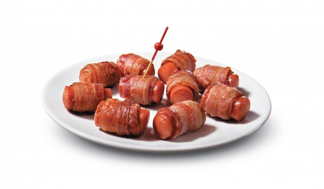 Bouchées de saucisses fumées et bacon