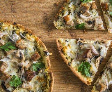 Pizza pita express à la saucisse