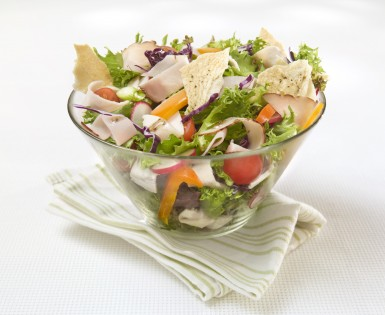 Salad with cold cuts