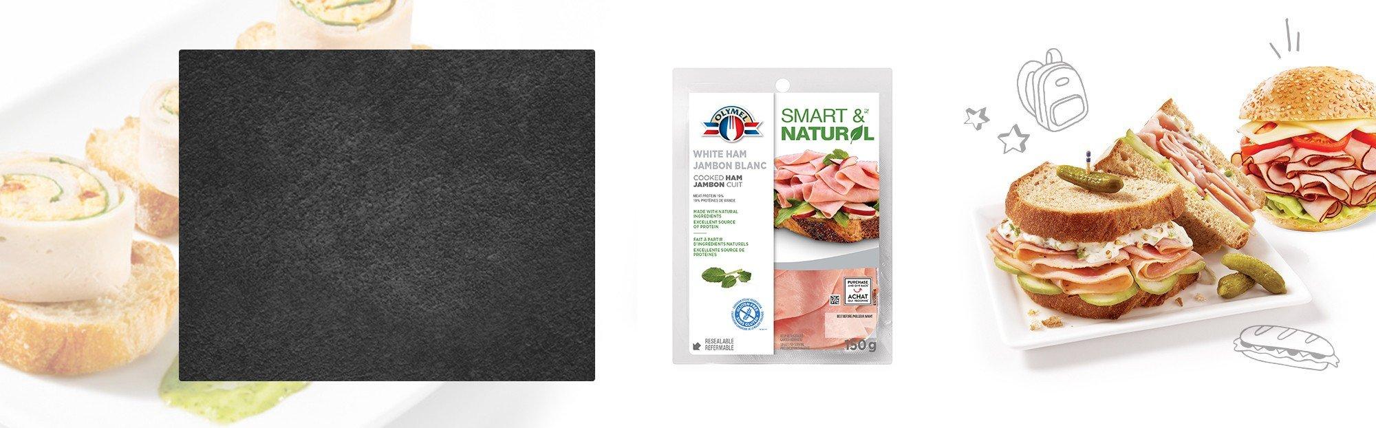 Shaved Cooked White Ham Olymel Smart & Natural