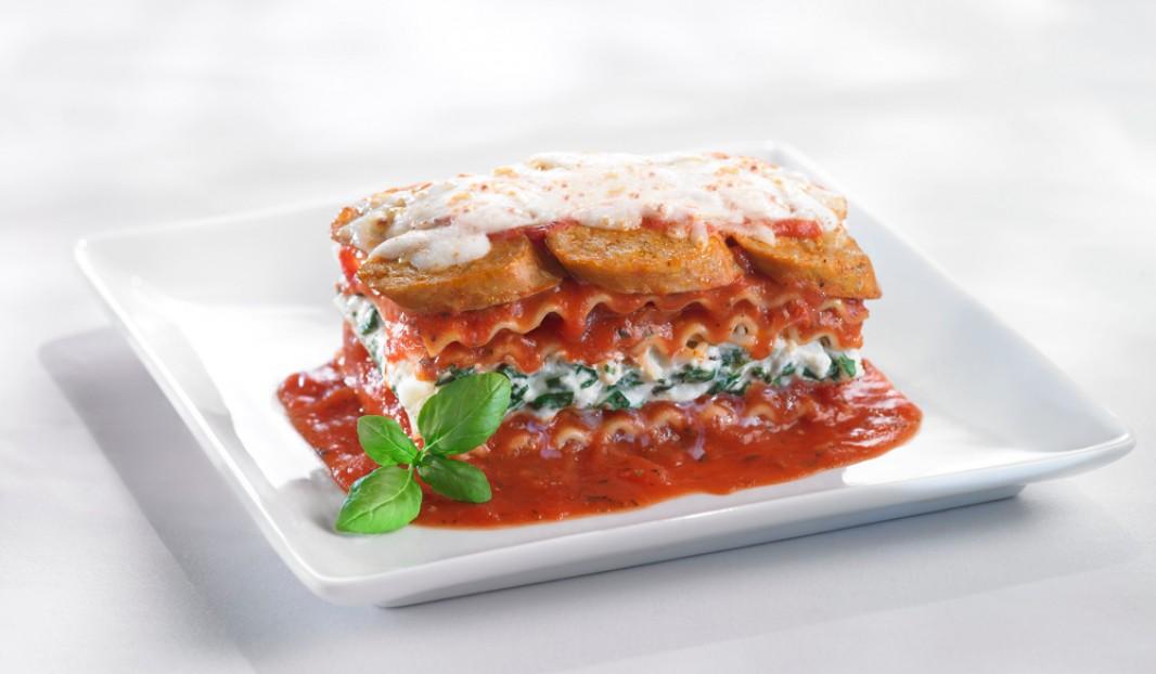 Lasagne à la saucisses Italiennes, ricotta et épinards