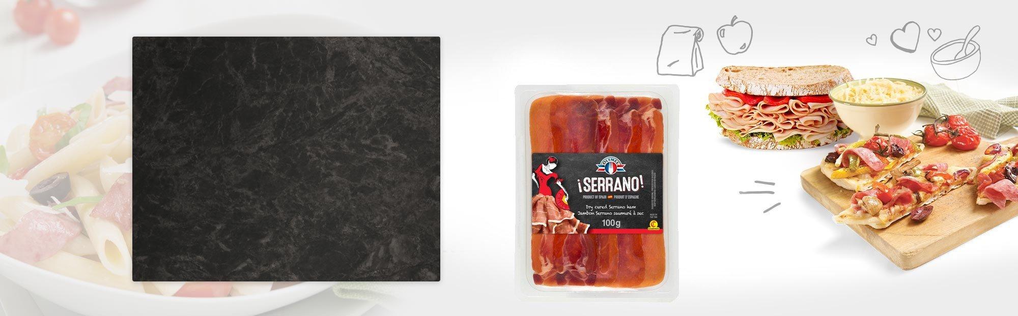 Serrano Jambon Serrano saumuré à sec