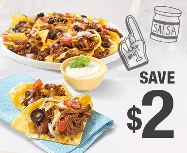 Save 2 $ on a package of  Olymel pulled pork (400 g)