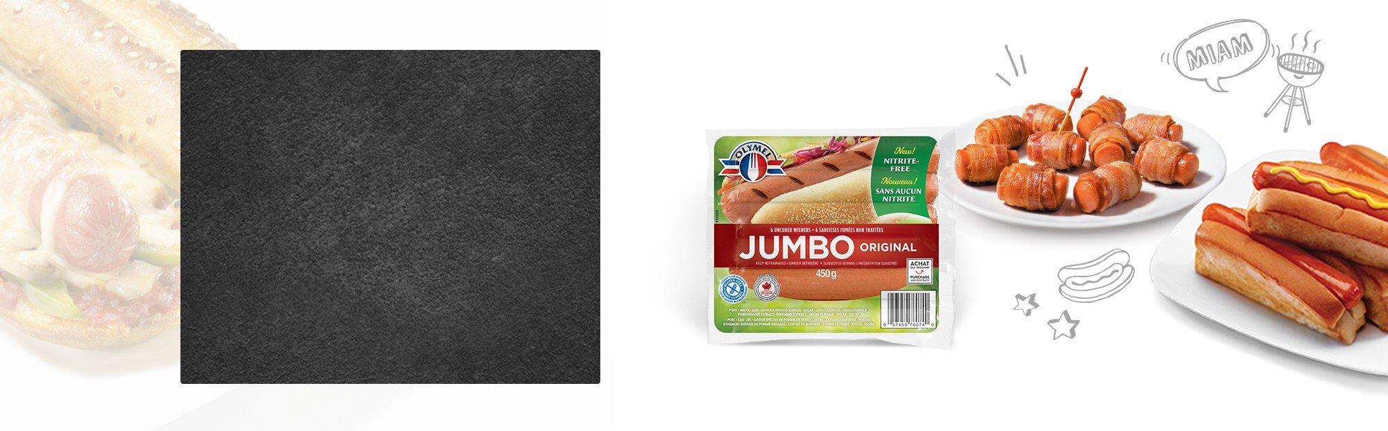 Saucisses fumées JUMBO Non traitées, sans nitrite