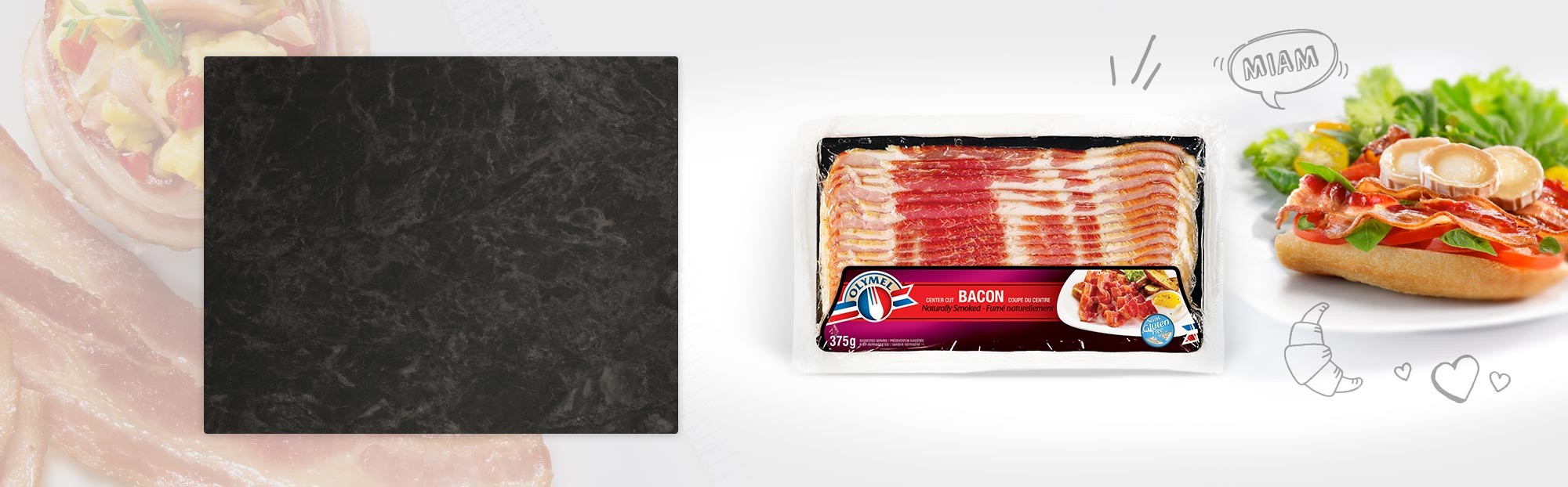 Bacon fumé naturellement
