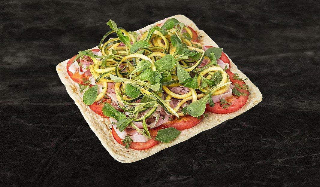 Pizza fresca, corne d'abondance