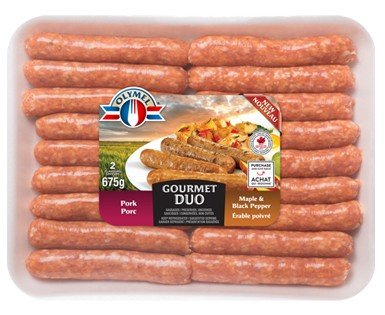 Olymel Pork & Maple and Black pepper Sausages