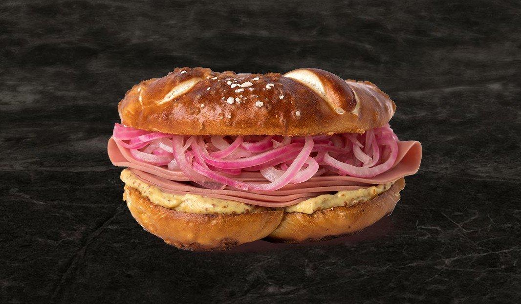 Bologna Pretzel Sandwich