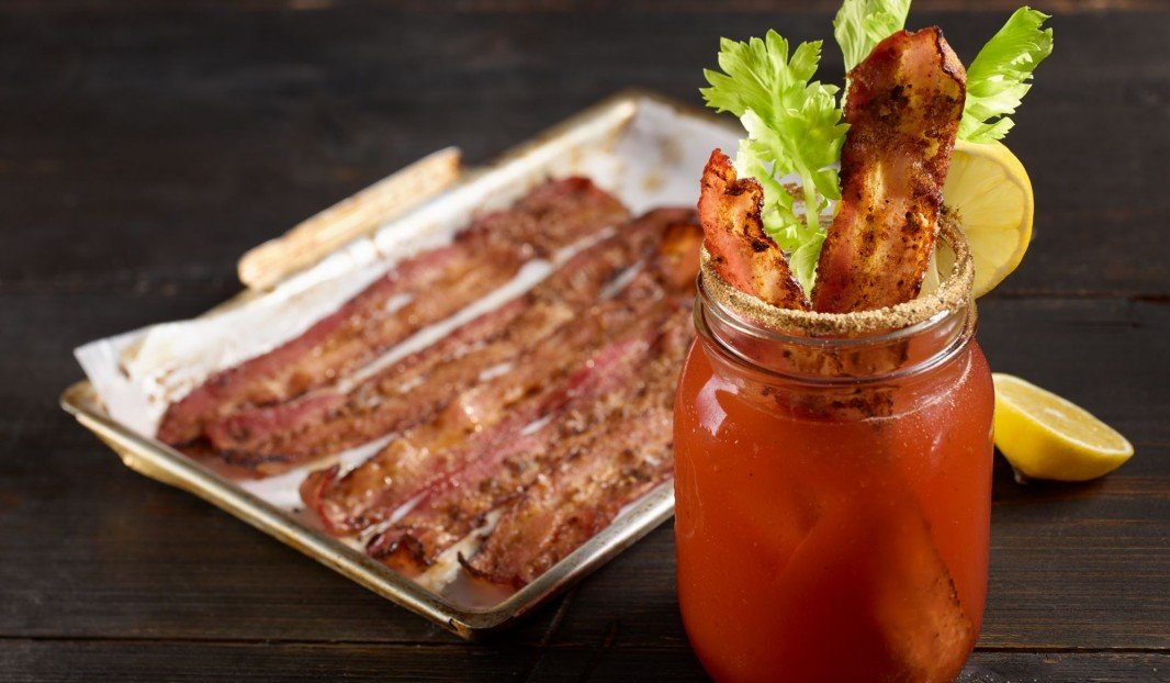 Spicy bacon bloody ceasar