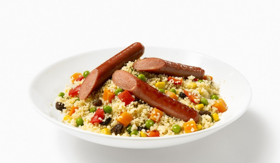 Couscous with smoked sausages