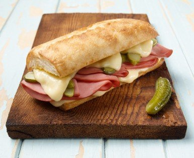 Grilled Cuban sandwich with bologna