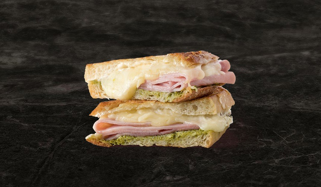 Mozza-Ham Grilled Cheese