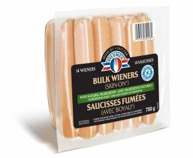 Saucisses fumées avec ingrédients naturels (avec boyau)