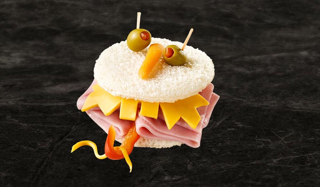 Têtes de monstres jambon-fromage