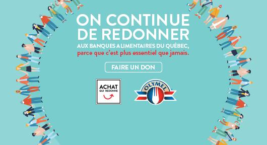On continue de redonner aux banques alimentaires du Québec