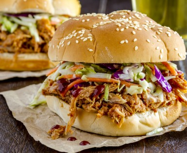 Sandwich sud ouest à l'effiloché de porc