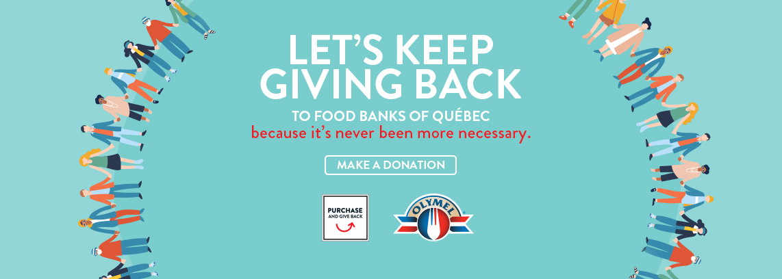 Let's keep giving back to food banks of Québec