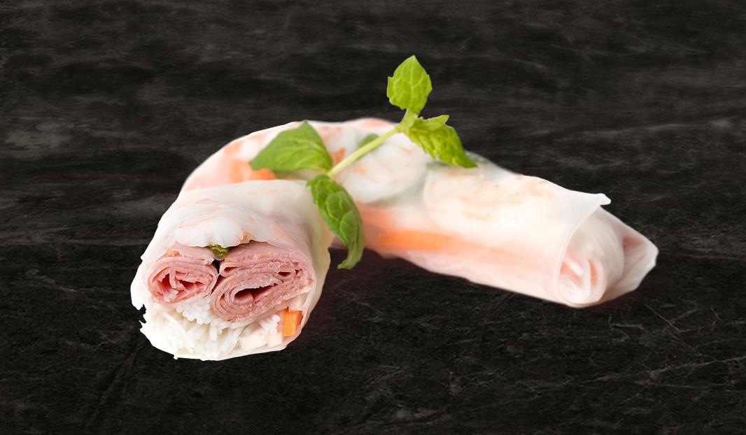 Rouleau de printemps au smoked meat de porc