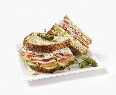 Turkey breast and  lebanese cucumber sandwich