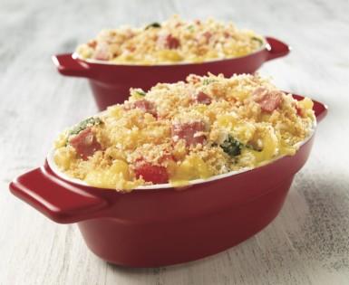 Casserole croustillante au bologne et macaroni au fromage