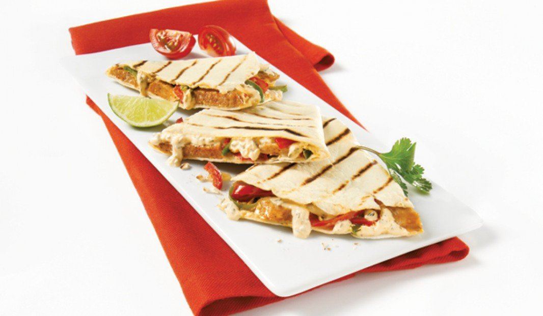 Quesadilla with Mild Toulouse Sausage and Boursin