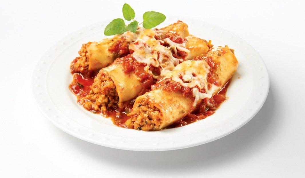 Cannellonis gratinés à la chair de saucisse Italienne douce