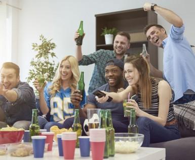 Organiser un party « sport et télé » gagnant