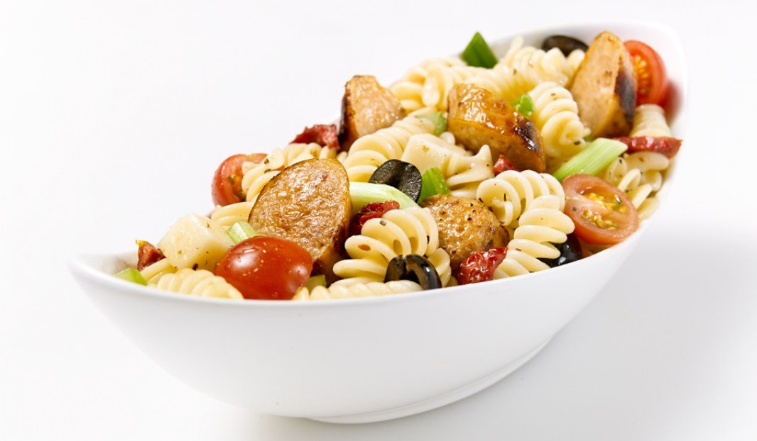 Fusilli Salad with Bacon & Cheddar Sausage