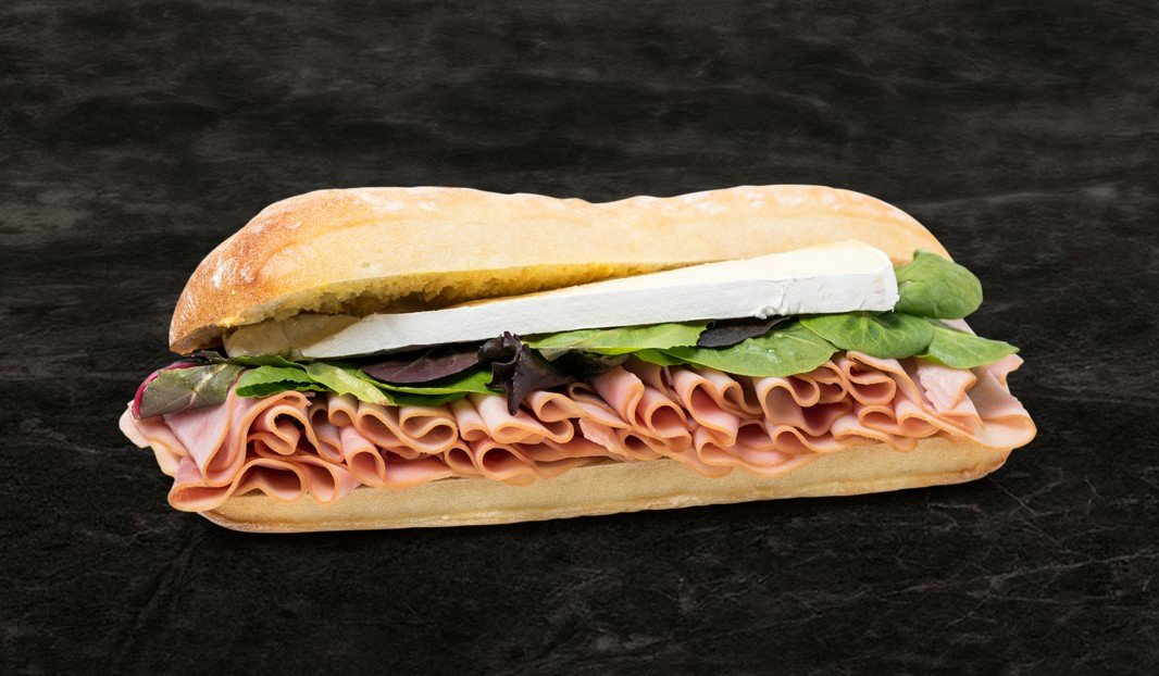 Ham and Brie Baguettine
